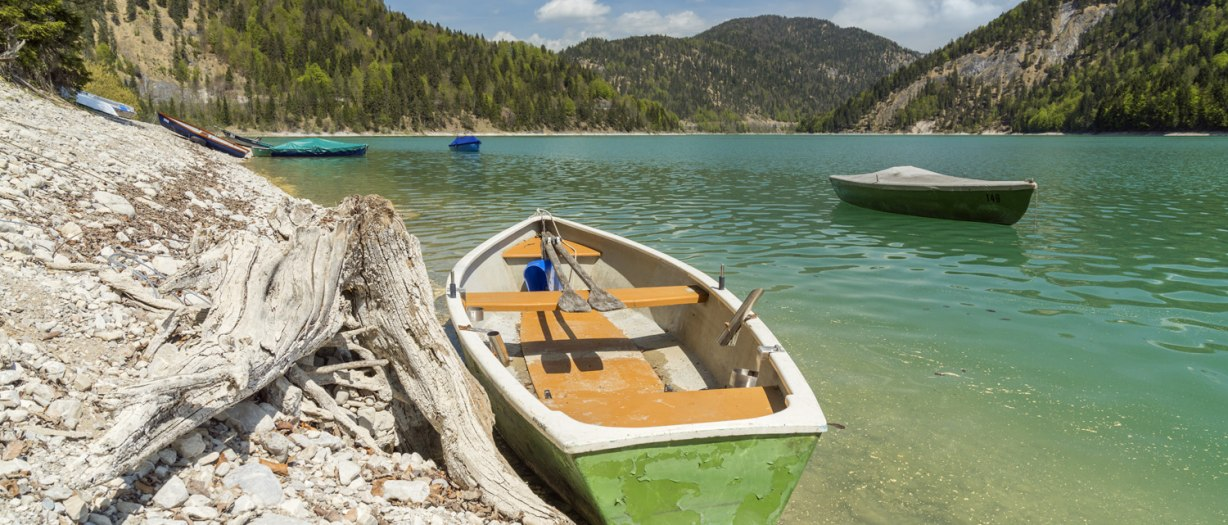 Boote am Sylvensteinsee, © Christian Bäck, Tourismus Lenggries